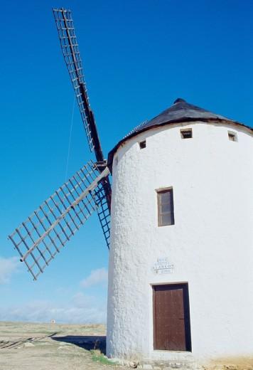 Windmill  Campo de Criptana, Ciudad Real province, Castilla La Mancha, Spain : Stock Photo