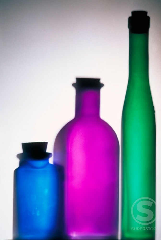Stock Photo: 1436R-30034 Bottles