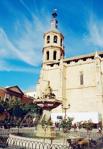 Asunción church, España Square  Valdepeñas, Ciudad Real province, Castilla La Mancha, Spain : Stock Photo