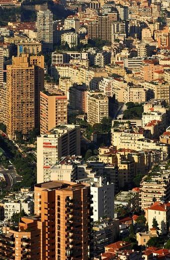 The urban maze of Monte Carlo, Principality of Monaco : Stock Photo