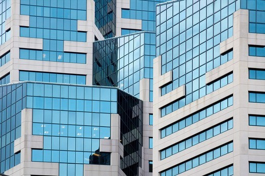 Stock Photo: 1436R-303757 Detail of modern architecture of the Westin in downtown San Diego, California, USA
