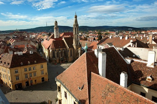 Roof top views Sopron, Hungary : Stock Photo