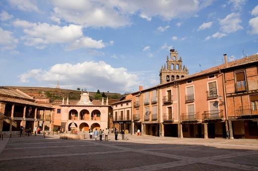 Main Square  Ayllón, Segovia province, Castilla León, Spain : Stock Photo