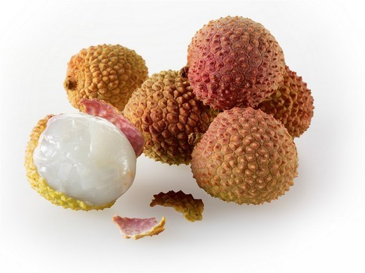 Stock Photo: 1436R-304443 lychee fruit