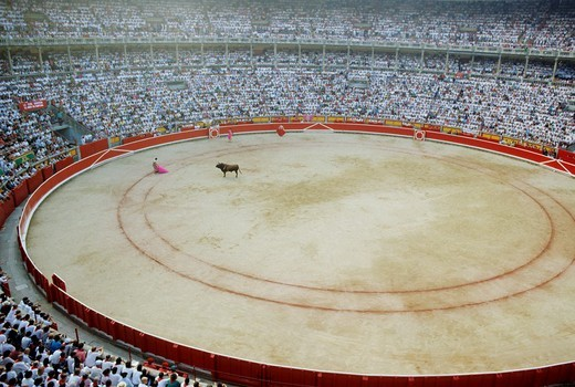 Spain pamplona the crowdie arenas during san firmin fiesta in july : Stock Photo