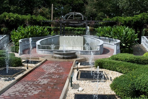 Stock Photo: 1436R-306536 The elaborate fountains and Gazebo at the Akron Zoo