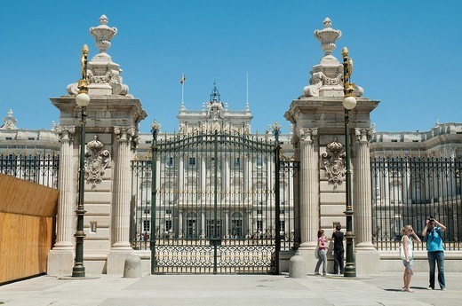 Stock Photo: 1436R-306549 Royal Palace, Armería Square  Madrid, Spain