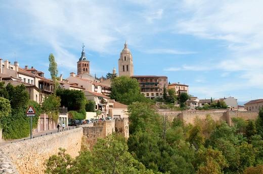 View from Ronda de Don Juan II  Segovia, Castilla León, Spain : Stock Photo