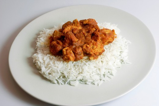 Stock Photo: 1436R-308030 Biryani Masala chicken with basmati rice