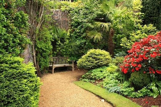 Lovely, public spring garden, Scotland : Stock Photo