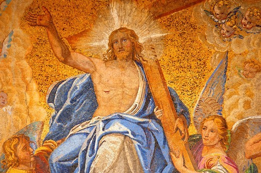 Mosaic on Saint Marks Basilica -Ascension of Christ - Venice - Italy : Stock Photo