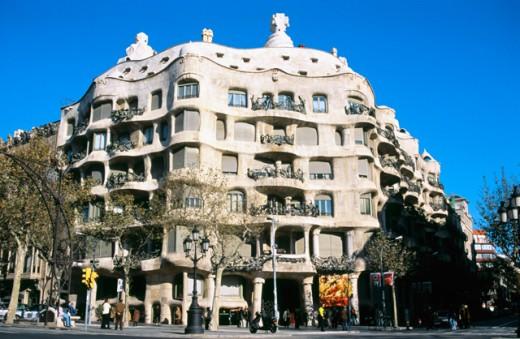 Stock Photo: 1436R-31001 Casa Mila (La Pedrera) Barcelona Spain