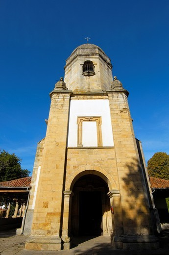 Church of Santa Maria de Sabada, Lastres, Colunga, Asturias, Spain : Stock Photo
