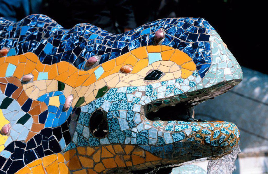 Stock Photo: 1436R-31025 Guell Park Barcelona Spain