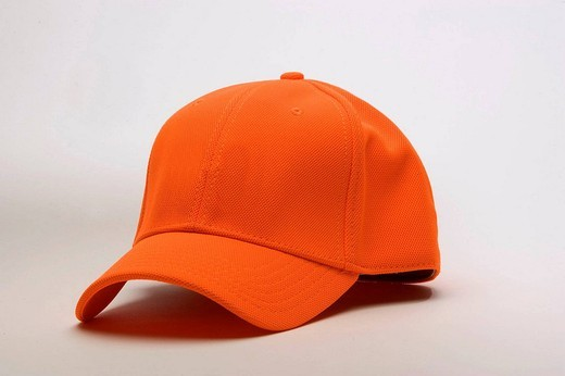 BLAZE ORANGE HUNTING HAT : Stock Photo