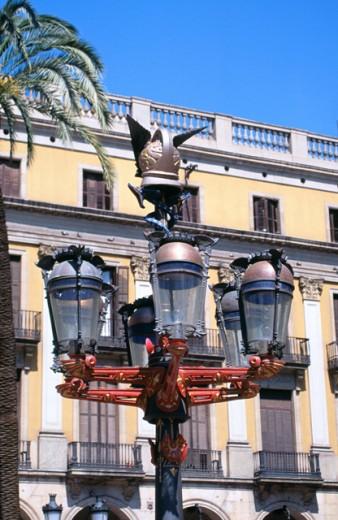 Plaça Reial Barcelona Spain : Stock Photo