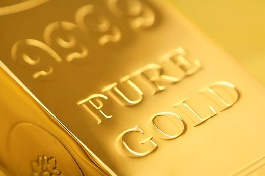 Stock Photo: 1436R-311225 Gold Bar Detail