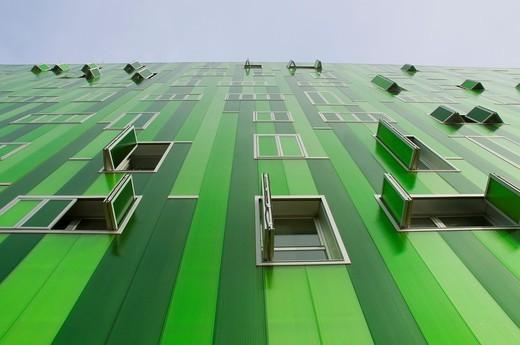 Stock Photo: 1436R-311820 Facade of Vallecas 51 Building, Ensanche de Vallecas  Madrid, Spain