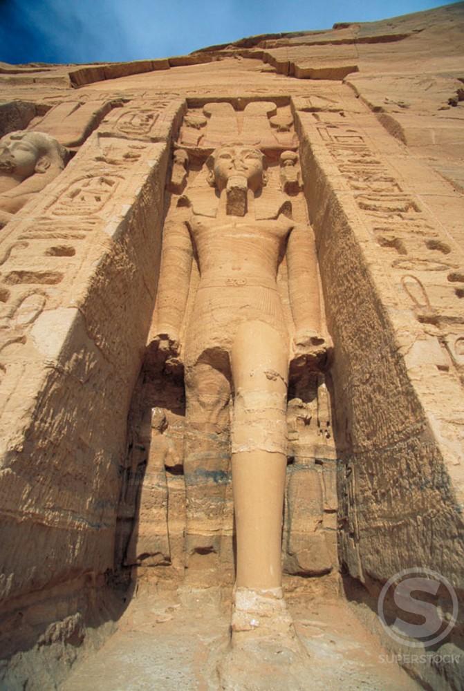 Temple of Nefertari Abu Simbel Egypt : Stock Photo
