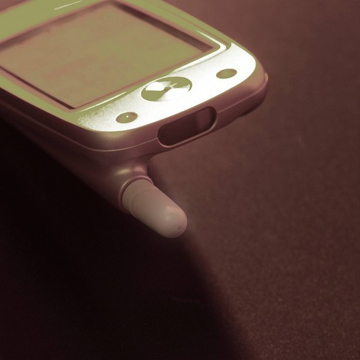 Stock Photo: 1436R-321275 Mobile phone, close_up