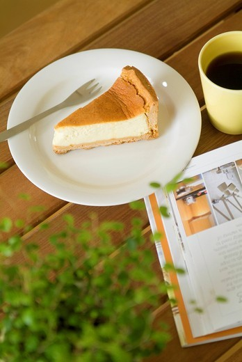 Baked cheesecake : Stock Photo