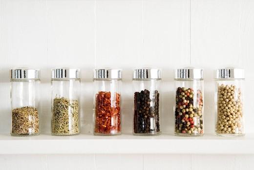 Spice jars : Stock Photo