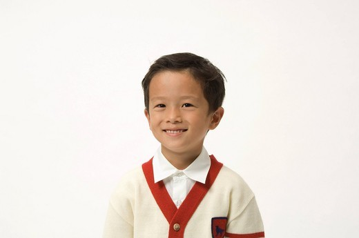 Elementary age boy smiling : Stock Photo