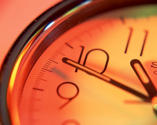 Close up of an analog clock : Stock Photo