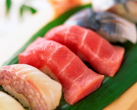 Assorted sushi, close_up : Stock Photo