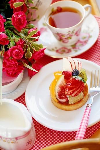Stock Photo: 1436R-335651 Fruit cake