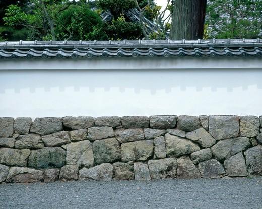 Stone wall, Japan : Stock Photo