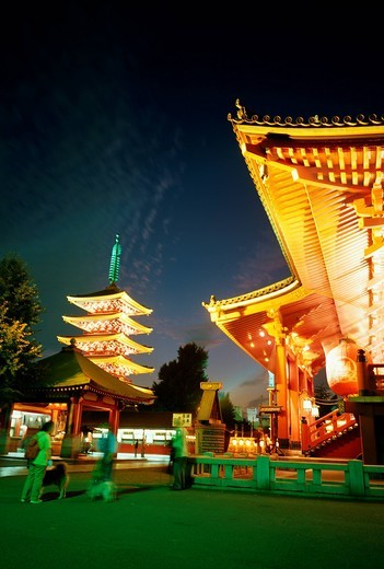 Illuminated Sensoji, Tokyo, Japan : Stock Photo