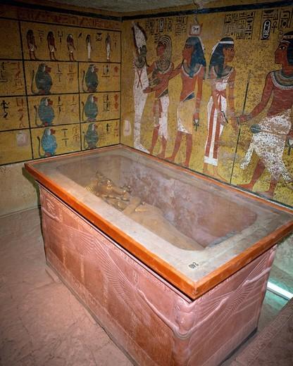 Stock Photo: 1436R-336800 Tomb of Tutankhamen in Luxor, Egypt