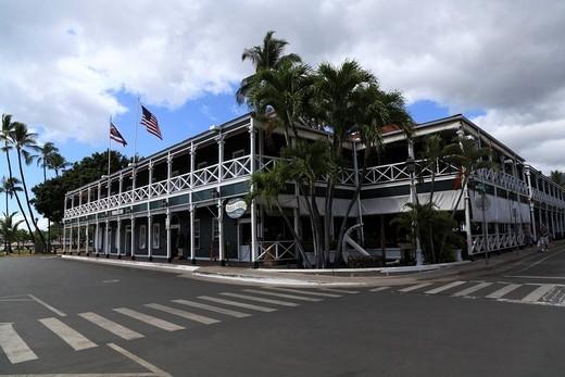 Stock Photo: 1436R-339954 Downtown Of Lahaina, Maui, Hawaii, U.S.A.