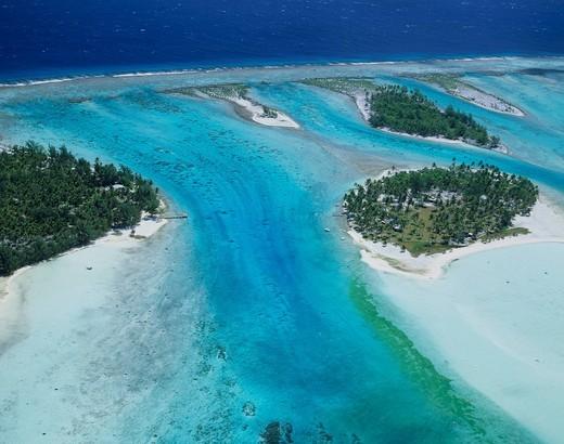Aerial View of Bora Bora Island, Tahiti : Stock Photo