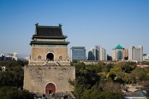 Stock Photo: 1436R-341286 Bell Tower, Beijing, China