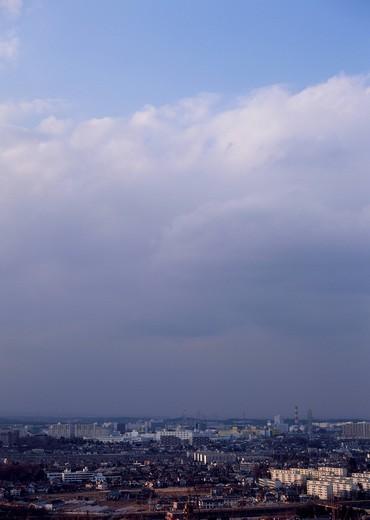 Stock Photo: 1436R-342418 Cirocumulus and cumulus clouds