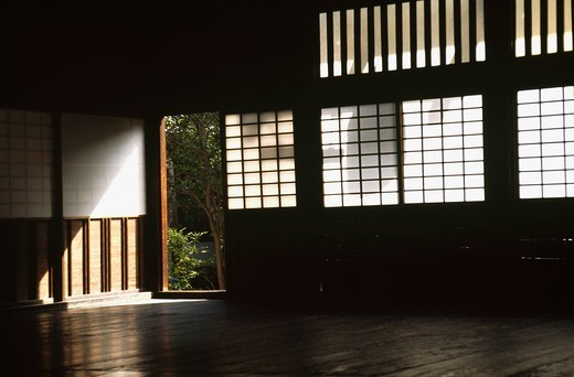Ray and shadow in Japanese room : Stock Photo
