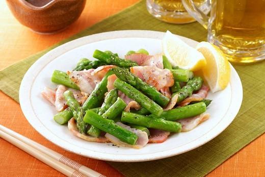 Aspara_bacon : Stock Photo