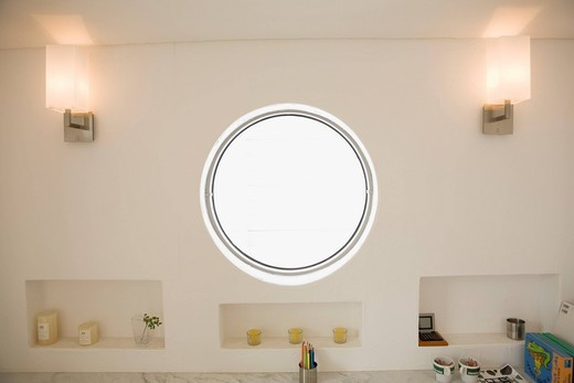 Round Window : Stock Photo