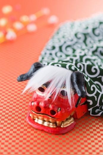 Lion dance ornament: : Stock Photo