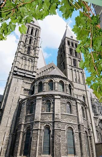 Stock Photo: 1436R-348777 Notre Dame cathedral. Tournai. Hainaut, Belgium