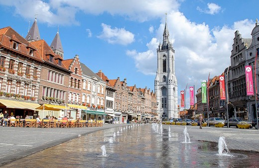 Stock Photo: 1436R-348786 Beffroi (´belfry´) tower in the Grand Place. Tournai. Hainaut, Belgium