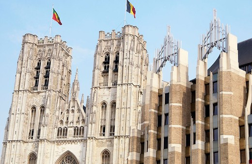 St. Michael´s cathedral (aka St. Gudule´s). Brussels. Belgium : Stock Photo