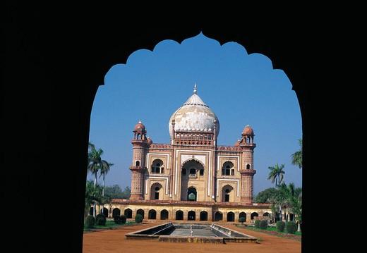 Humayun´s (second Mughal ruler of India) mausoleum. New Delhi. India : Stock Photo