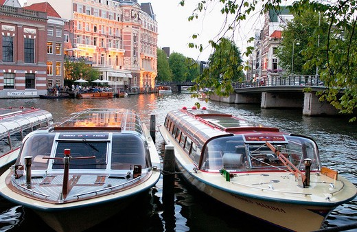 Binnen Amstel canal. Amsterdam. Netherlands : Stock Photo