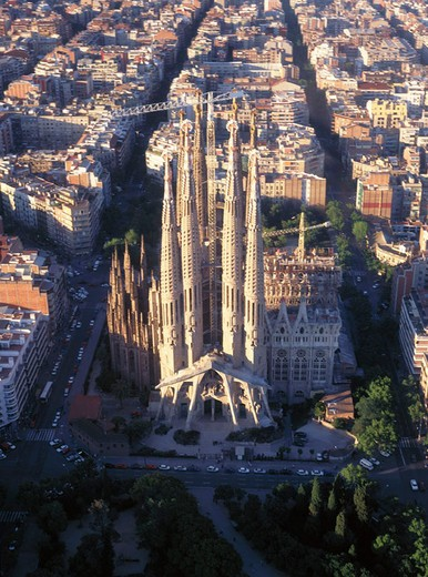Temple of Sagrada Familia, by Gaudi. Barcelona. Spain : Stock Photo