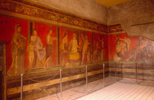 Roman house. Pompei. Naples. Italy. : Stock Photo