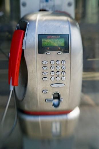 Pay phone. Rome, Italy : Stock Photo