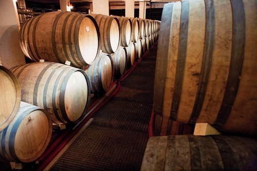Stock Photo: 1436R-351940 Wine barrels. Santorini, Greece